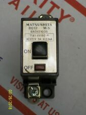 BAD122155 Matsushita Push Reset Circuit Breaker BD12 Warranty 15A