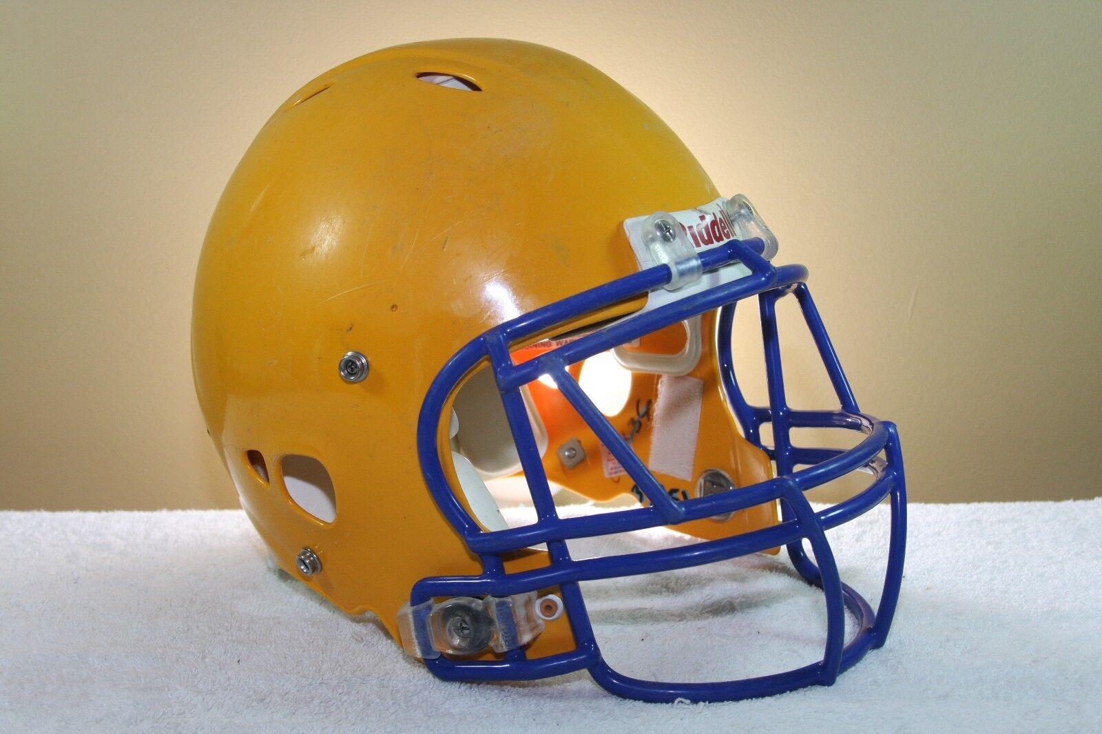 Riddell ADULT Game Used Worn Revolution Football Helmet oro Medium Medium oro 114 1 jawpad e488b1