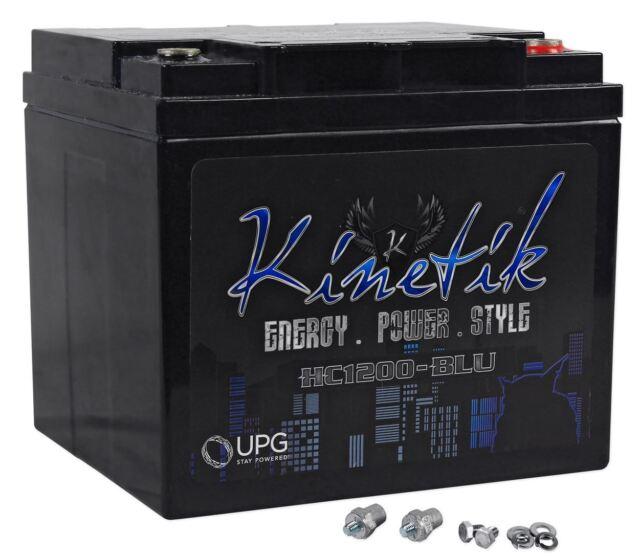 Kinetik HC1200-BLU 1200 Watt Blue Power Cell/Car Battery Audio System AGM HC1200