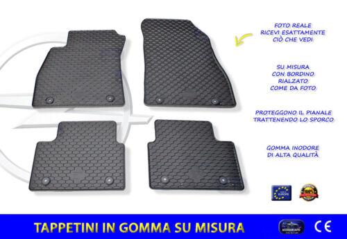 Tappetini Opel Insigna dal 2013 al 2017 Tappeti in gomma con bottoni e facili da