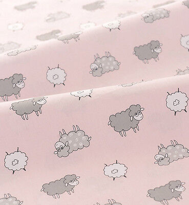 One PCS Cotton Fabric Pre-Cut Quilt cloth Fabric for Sewing Curly Sheep