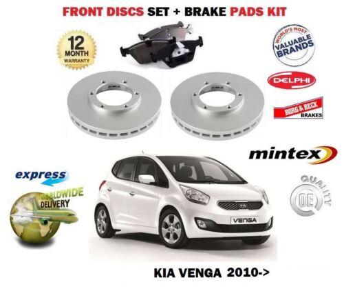 Para Kia Venga 1.4 1.6 /> Nuevo Delantero Discos De Freno Kit De Discos Pastillas Set CRDi 2010