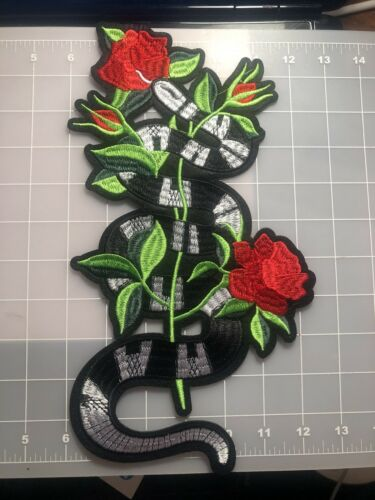 EmbroiderGreen Coral Snake Motif Iron On Applique Patch!