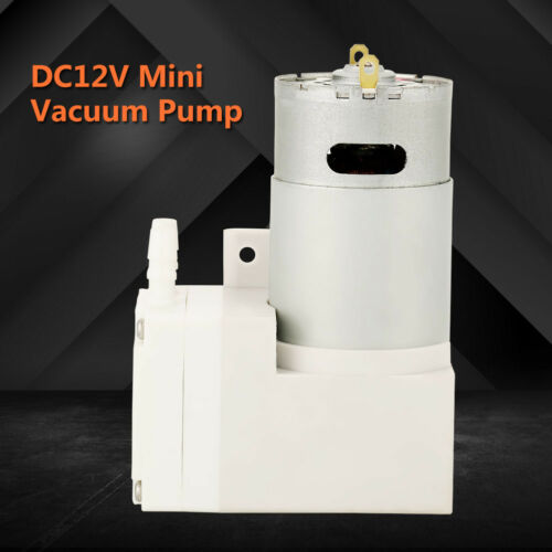 12V Mini Vakuumpumpe 70L//min Unterdruck Klimaanlagen Kompressorpumpe Mikropumpe