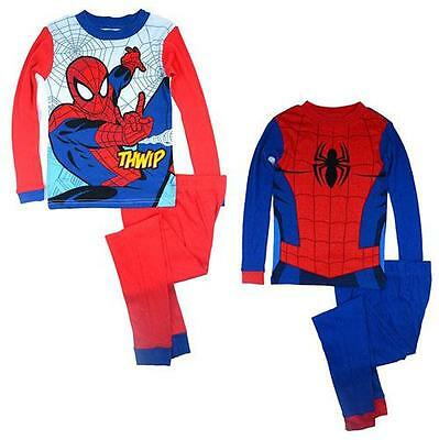 J09e NEW Spider Man Boys Kids Size 4 6 10 Cotton Pyjamas PJs Pajasmas Sleepwear