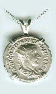 AD239-Silver-Roman-Denarius-Emperor-Gordian-Goddess-Concordia-Harmony-Cooperate