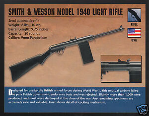SMITH & WESSON MODEL 1940 LIGHT RIFLE 9mm WW2 Gun Classic