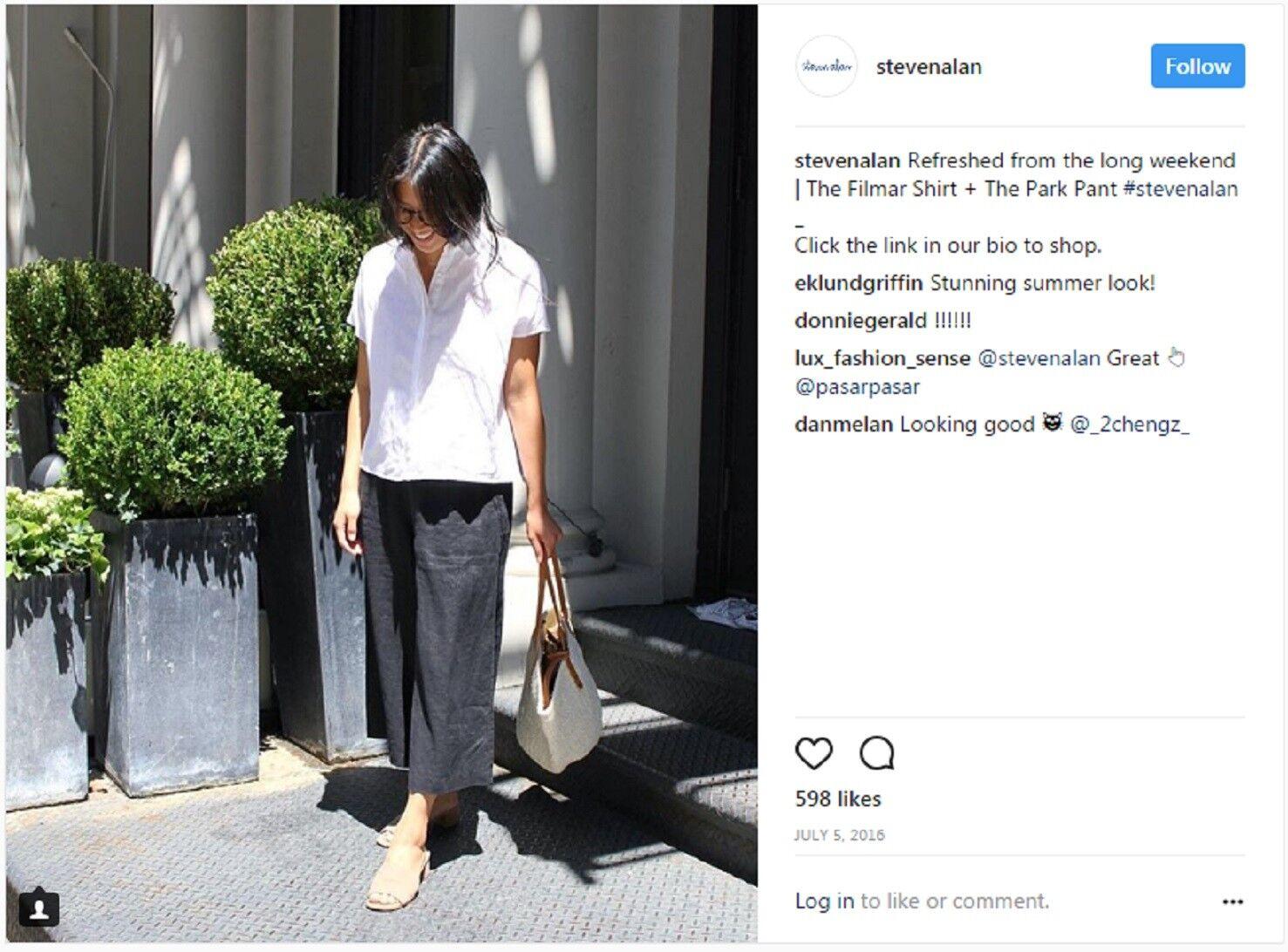 Steven Alan Filmar Shirt Weiß Linen Blouse Sz Small