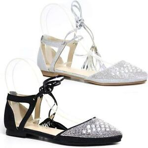 4d4b938a9e3e7e Image is loading Ladies-Gladiator-Sandals-New-Womens-Flat-Strappy-Fancy-