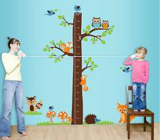Height Growth Chart Tree Animal Wall Sticker Decal Nursery Baby Bedroom Decor UK