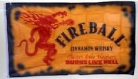 Fireball Whiskey 3x5 Flag