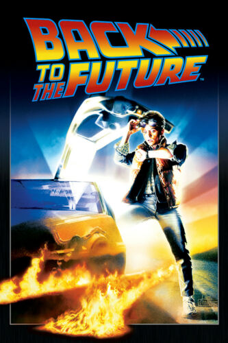Vintage Back to the Future FILM MOVIE METAL TIN SIGN POSTER WALL PLAQUE