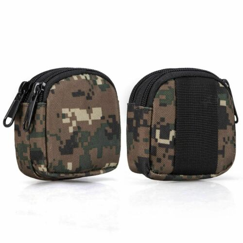 Waterproof Dual L O7W2 Small Outdoor Pouch,Mini Purse Organizer Army Molle Gear