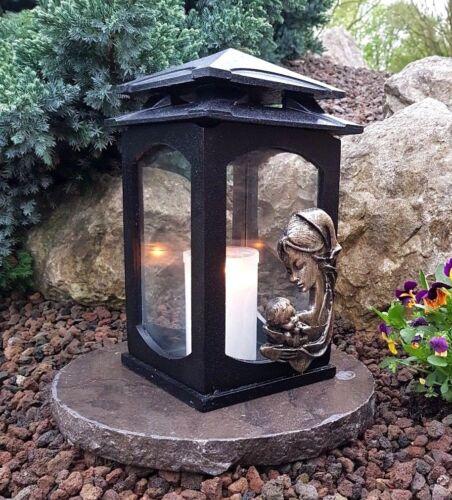 Grablaterne Maria Sockel Grablampe Lampe Grableuchte Grablicht Grabschmuck NEU