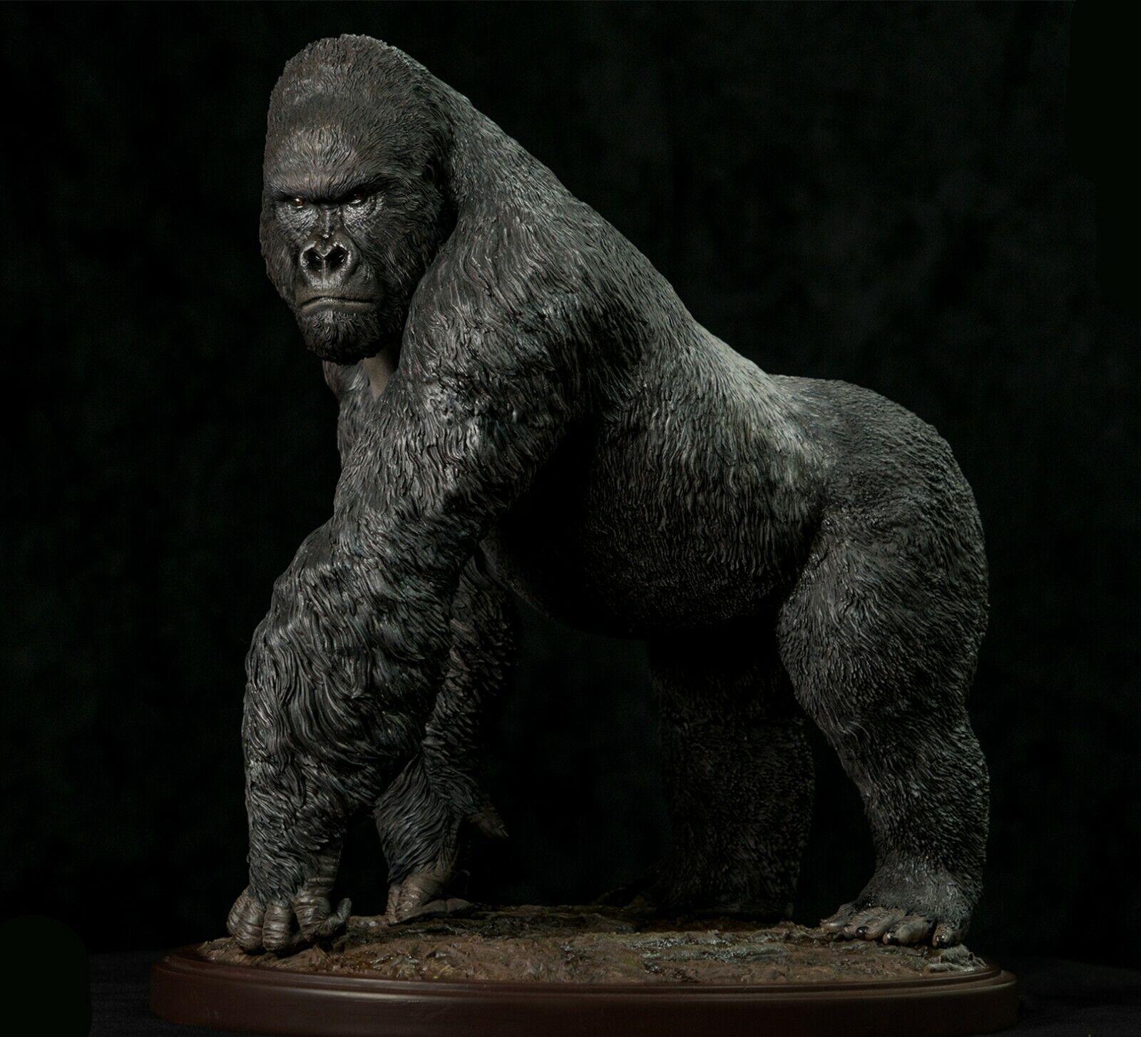 GORILLE DE MONTAGNE Statue 1 4 animal sauvage Modèle Figure base collector Décoration