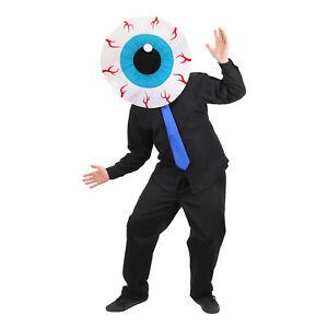 Image is loading Mens-Eyeball-Mascot-Costume-Mask-Head-MASKot-Monster-  sc 1 st  eBay & Mens Eyeball Mascot Costume Mask Head MASKot Monster Cyclops Funny ...