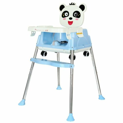 Baby Highchair Infant High Feeding Seat 5 in1 Toddler Table Chair Foldable UK