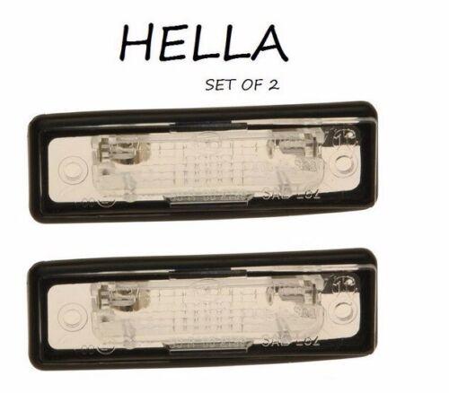 NEW For BMW E23 733i E28 528e E30 318i License Plate Light Set Of 2 Hella OEM