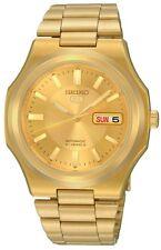 SEIKO Men SNKK52 Gold Tone SEIKO 5 Automatic Retail $225 Authentic Box&Warranty