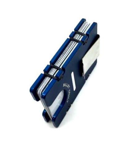 RFID protection Large American Flag,Billet Vault Aluminum Wallet Blue anodized