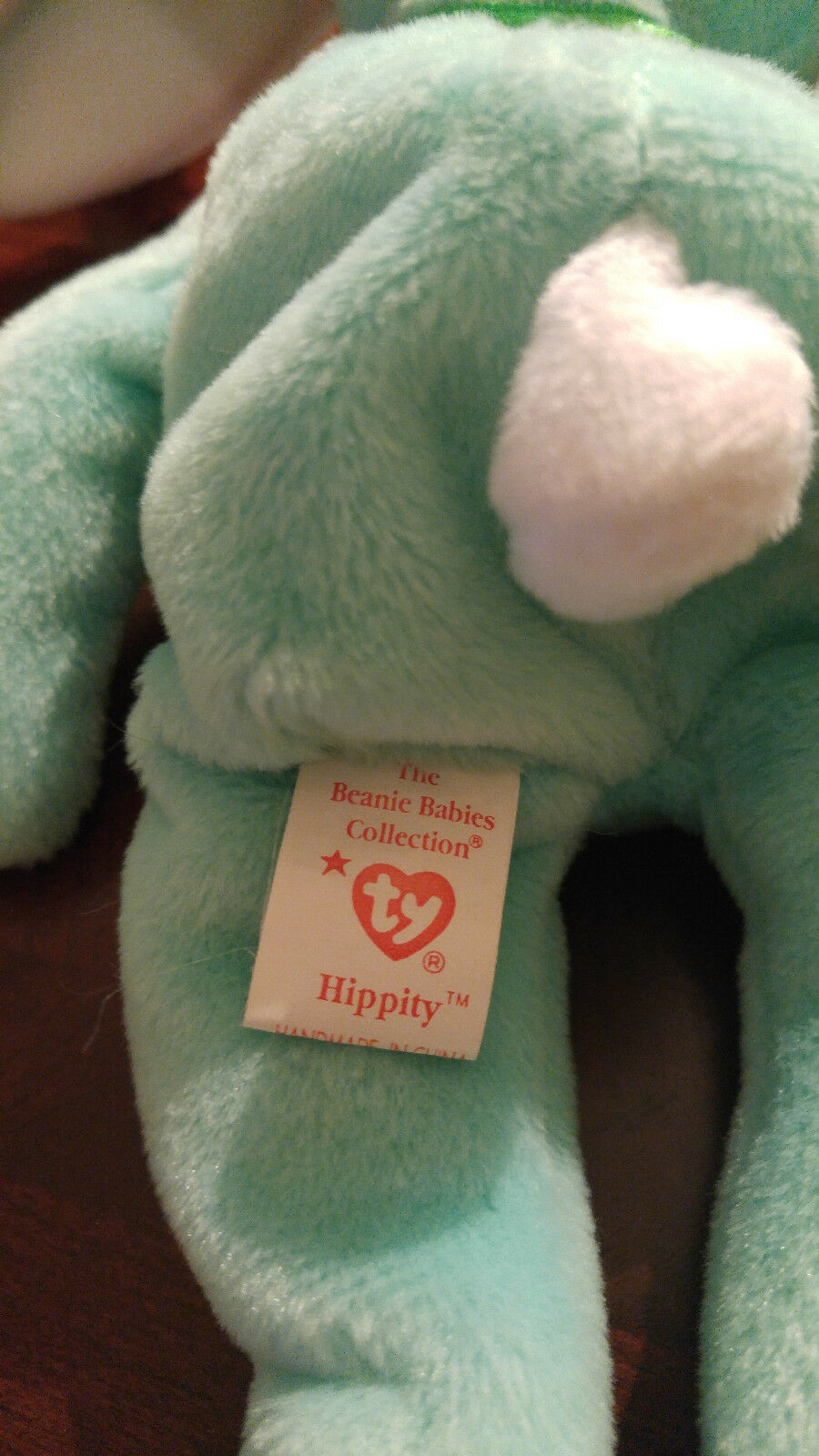 Hippity-Ty Beanie Baby 1996 1996 1996 Rare Collectible Retired Bunny ERROR original PVC bbb228