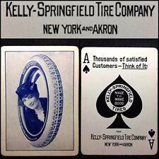 c1912 Kelly Springfield / Goodyear Playing Cards Car Tire Merchant Poker Deck