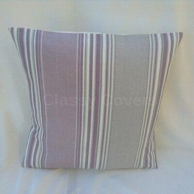 "Laura Ashley Designer Cushion Cover /""AWNING STRIPE/"" Amethyst Various Sizes"