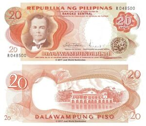 Philippines-20-Piso-ND-1969-P-145b-Banknotes-UNC