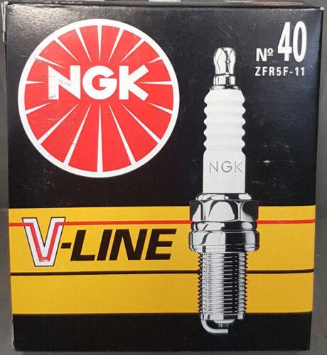 40   ZFR5F-11  # 4 x ZÜNDKERZE 91763 NGK V-LINE No