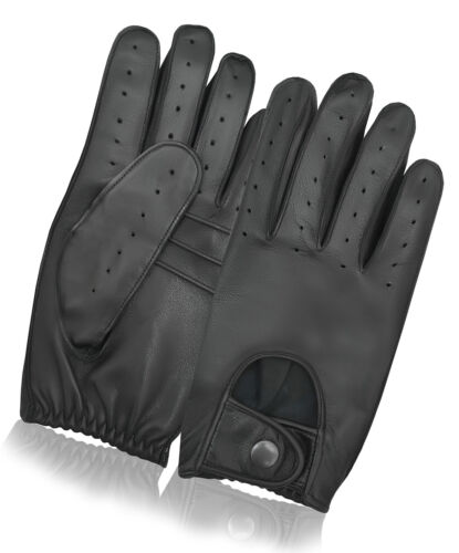 Men/'s Dress Driving Gloves Retro Style Vintage Chauffeur High Quality Leather