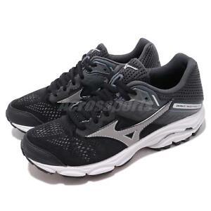 0f8c6b1dab4f Mizuno Wave Inspire 15 Wide Black Silver Women Running Shoes Sneaker ...