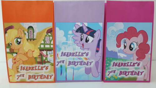 My Little Pony Theme Personalised Party Bags for a Birthday Party