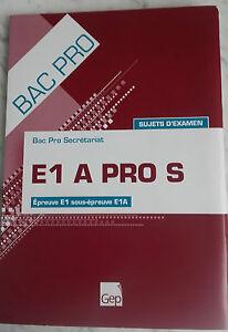 2010 Temas Examinación Bandeja Pro Secretariat Prueba E1/E1A Gep Infolio Tbe