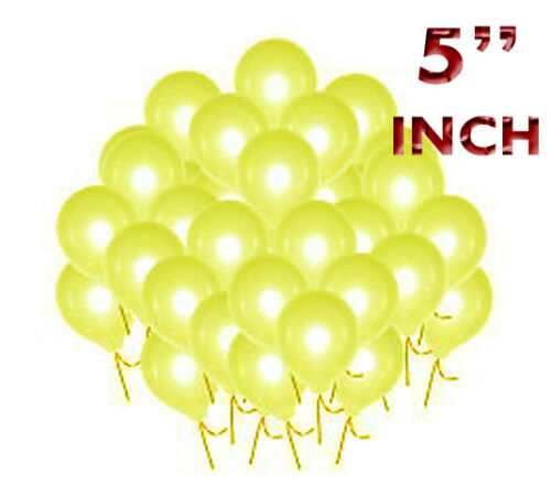 """10-200 Standard Finish 5/"""" Small Round Latex Balloons Choose From 17 Colours"""