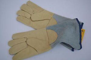 Paar-Schweisserhandschuhe-Arbeitshandschuhe-Lederhandschuhe-Leder-Hand-Gefuettert