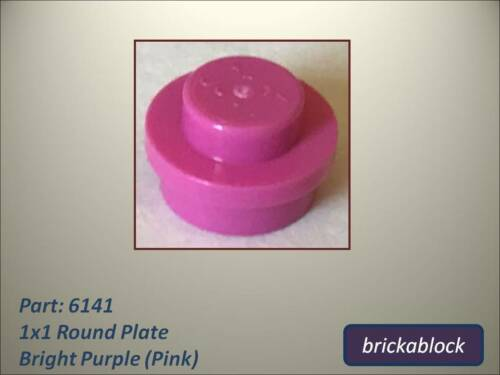 ALL COLOURS SAME PRICE 30057 1x1 Round Plate Choose 5-50 NEW Lego Part 6141