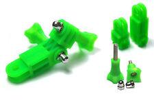 Braccio Pivot perpendicolare Mount F. GoPro Go Pro HD HERO 1,2,3 ACCESSORI giunto Green