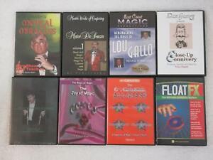 Lot of 8 MAGICIANS MAGIC TRICKS DVDS Bob Cassidy Marc De Souza Lou Gallo
