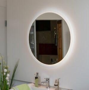 Badspiegel Rund Led Beleuchtung Touch Schalter Optional Runder