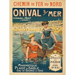 Chaix-Onival-Sur-Mer-French-Travel-Advert-XL-Canvas-Art-Print
