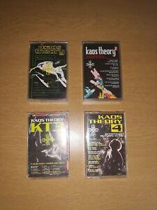 Job-Lot-Bundle-Collection-Kaos-Theory-1-2-3-4-Original-Rave-Cassette-Tapes-1992