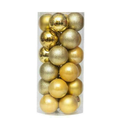 Christmas Tree Xmas Balls Decorations Baubles Party Wedding Ornament 24Pcs//Pack