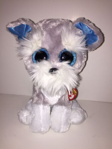 TY WHISKERS SCHNAUZER 9 BEANIE BOOS-NEW, MINT TAG *IN HAND NOW-IMMEDIATE SHIP*