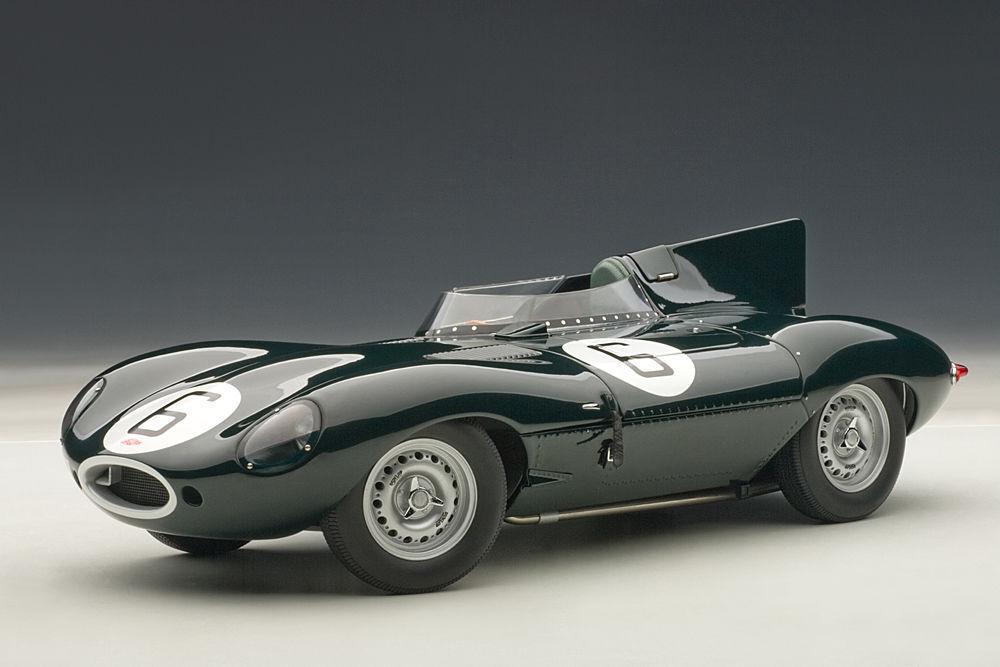 1 18 Autoart Jaguar D-Type Lm 24hr Race 1955 Winner Hawthorn Bueb + 1