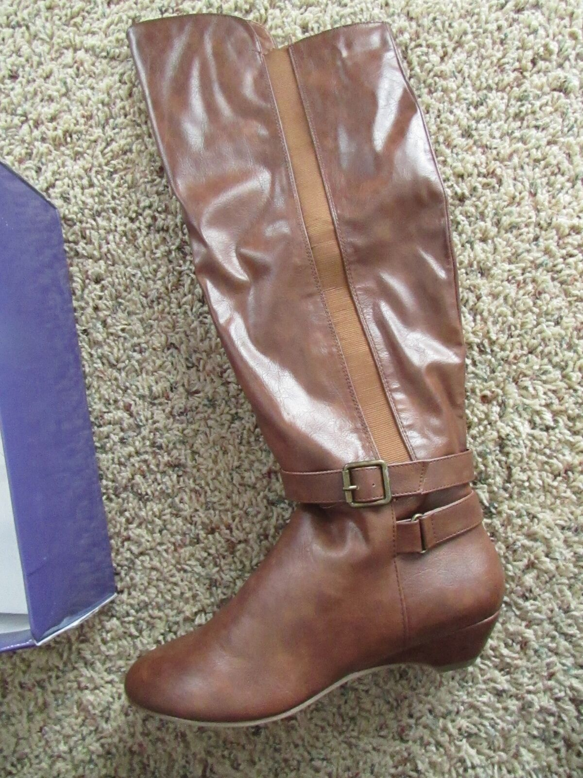 NEW MADDEN GIRL ZILCH COGNAC TALL BOOTS WOMENS 8 TALL RIDING BOOTS