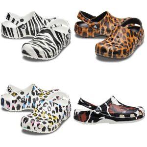 Crocs Classic Animal Print Clog Unisex Clogs | Hausschuhe | Gartenschuhe - NEU