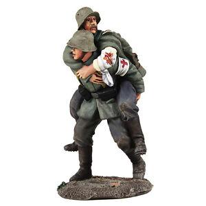 William Britains Ww1 Medic Allemand portant un soldat blessé numéro 23095 Nouveau