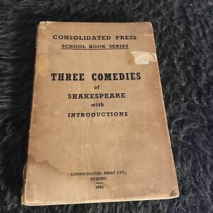 CONSOLIDATED-PRESS-SCHOOL-BOOK-SERIES-THREE-COMEDIES-OF-SHAKESPEARE-1942
