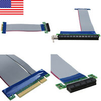 NEW PCI-Express 4X 8X 4X/ 8X to 16X Riser Card Ribbon Extender Extension Cable