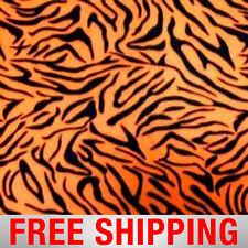 "Fleece Fabric Tiger Stripes Orange Style PT 982 60"" Wide Free Shipping"